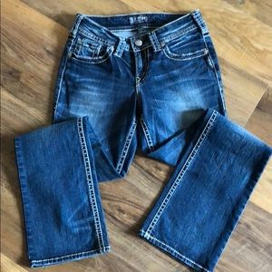 Silver mid slim bootcut jeans